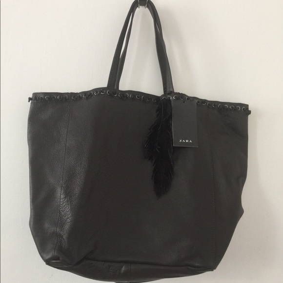 Bag Poshmark BagsLarge Zara Tote Leather OZXPkui
